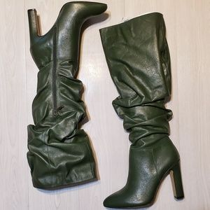 The Fix Kennedi autumn green slouch boots